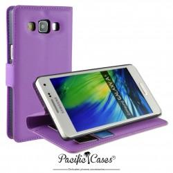 étui pour Samsung A5 ouverture folio et fonction stand par Pacific Cases® - mauve