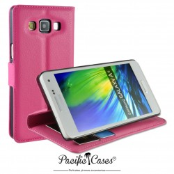 étui pour Samsung A5 ouverture folio et fonction stand par Pacific Cases® - fuschia