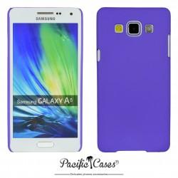 Coque pour Samsung A5 touché gomme marque Pacific Cases® - mauve