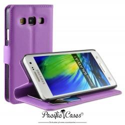 étui pour Samsung A3 ouverture folio et fonction stand par Pacific Cases® - mauve