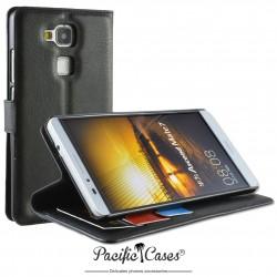 étui pour Huawei Ascend Mate 7 ouverture folio et fonction stand par Pacific Cases® - noir
