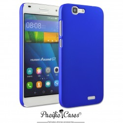 Coque pour Huawei Ascend G7 touché gomme marque Pacific Cases® - bleu foncé