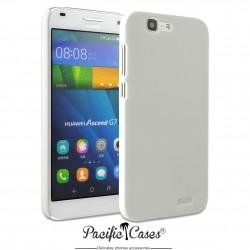 Coque pour Huawei Ascend G7 touché gomme marque Pacific Cases® - blanc