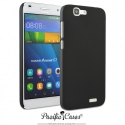 Coque pour Huawei Ascend G7 touché gomme marque Pacific Cases® - noir
