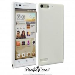 Coque pour Huawei Ascend G6 touché gomme marque Pacific Cases® - blanc