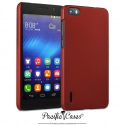Coque pour Huawei Honor 6 touché gomme marque Pacific Cases® - rouge