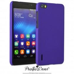 Coque pour Huawei Honor 6 touché gomme marque Pacific Cases® - mauve