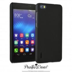 Coque pour Huawei Honor 6 touché gomme marque Pacific Cases® - noir