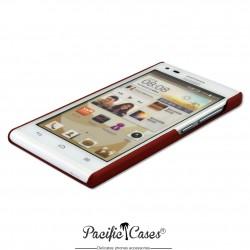 Coque pour Huawei Ascend G6 touché gomme marque Pacific Cases® - rouge