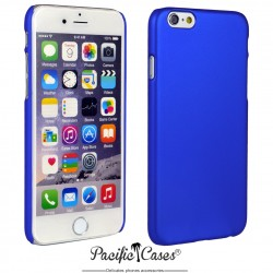 Coque pour iPhone 6 et 6S  rigide touché gomme par Pacific Cases - bleu marine