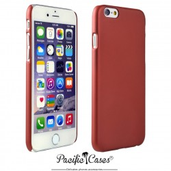 Coque pour iPhone 6  rigide touché gomme par Pacific Cases - rouge