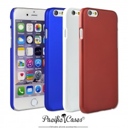 Coque pour iPhone 6 et 6S  rigide touché gomme par Pacific Cases  lot de 3 - bleu blanc rouge