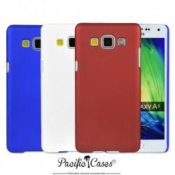 Coque pour Samsung Galaxy A5  rigide touché gomme par Pacific Cases  lot de 3 - bleu blanc rouge