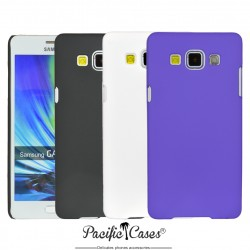 Coque pour Samsung Galaxy A5  rigide touché gomme par Pacific Cases  lot de 3 - noir blanc mauve