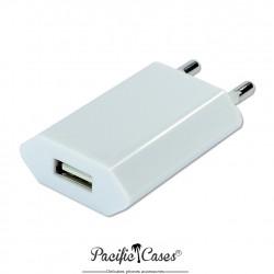Alimentation chargeur secteur vers USB 5 Volts 1A - Blanc