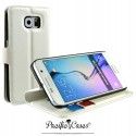 étui pour Samsung S6 blanc folio et fonction stand