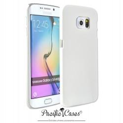 Coque pour Samsung S6 Edge touché gomme marque Pacific Cases® - blanc