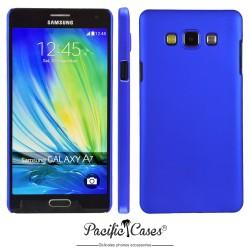 Coque pour Samsung A7 touché gomme marque Pacific Cases® - bleu foncé