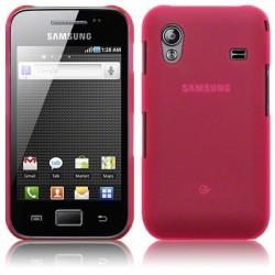 Coque rose translucide pour Samsung Galaxy Ace S5830