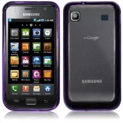 Coque arrière gel cristal pourpre translucide pour Samsung I9000 Galaxy