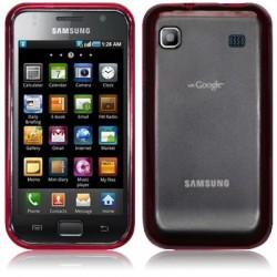Coque arrière gel cristal rouge translucide pour Samsung I9000 Galaxy
