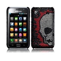 Coque arrière motifs crâne façon diamants pour Samsung Galaxy I9000