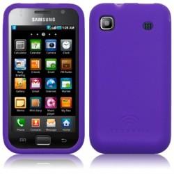 Coque arrière en silicone violet pour Samsung Galaxy I9000