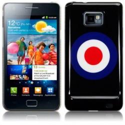 Coque noire avec motif cible Samsung i9100 Galaxy SII