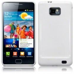 Coque souple blanc laqué pour Samsung i9100 Galaxy SII