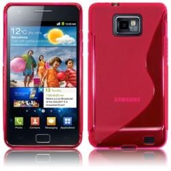 Coque souple fushia translucide pour Samsung i9100 Galaxy SII