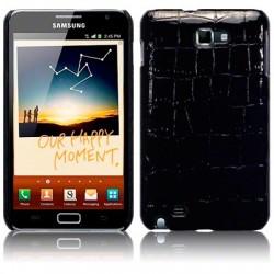 Coque rigide noir imitation croco pour Samsung Galaxy Note