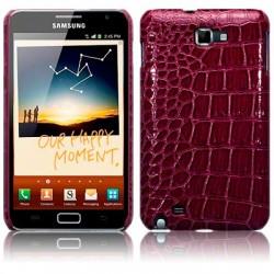 Coque rigide pourpre imitation croco pour Samsung Galaxy Note
