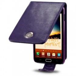 Etui pourpre en simili cuir pour Samsung Galaxy Note