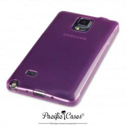 Coque pour Samsung Galaxy Note 4 violet translucide souple