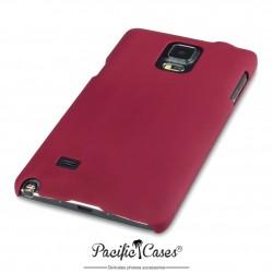 Coque pour Samsung Galaxy Note 4 rouge touché gomme