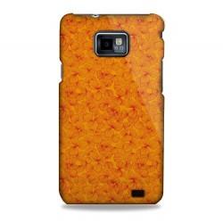 Coque motifs fleurs oranges Samsung Galaxy S2