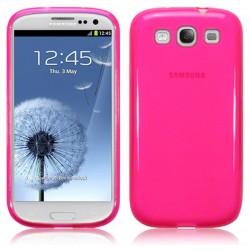 Coque rose translucide pour Samsung Galaxy S3
