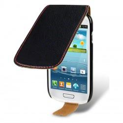 Etui noir coutures rouges Samsung Galaxy S3 mini