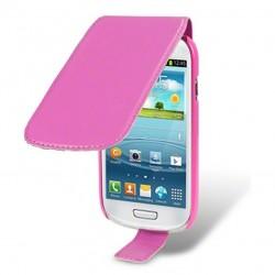 Etui rose à clapet pour Samsung Galaxy S3 mini