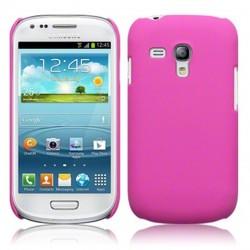Coque rigide rose touché gomme pour Samsung S3 mini