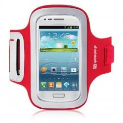 Brassard rouge en néoprène pour Samsung S3 mini