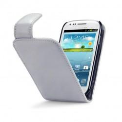Etui gris clair à clapet pour Samsung S3 mini