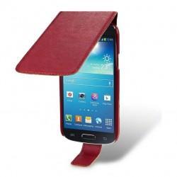 Etui rouge à clapet pour Samsung Galaxy S4 mini