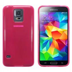 Coque rose translucide pour Samsung S5