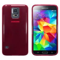 Coque rouge translucide pour Samsung S5