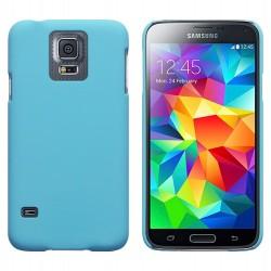 Coque bleu clair touché gomme pour Samsung S5