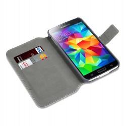 étui gris fonction stand pour Samsung S5