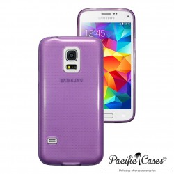 Coque gel pour Samsung S5 mini pourpre translucide