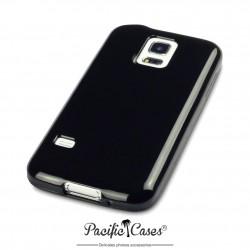 Coque gel pour Samsung S5 mini noir brillant