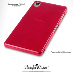 Coque pour Sony Xperia Z3 rouge translucide